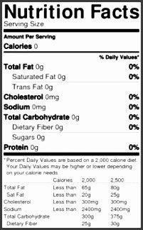 Blank Nutrition Label Template Word 6 Blank Nutrition Label Template Word Sampletemplatess