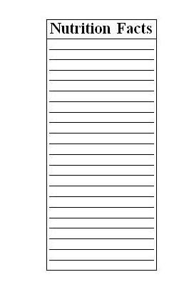 Blank Nutrition Label Template Word Advertising Creating A Cereal Box Teaching Rocks