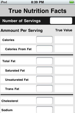 Blank Nutrition Label Template Word Blog Archives