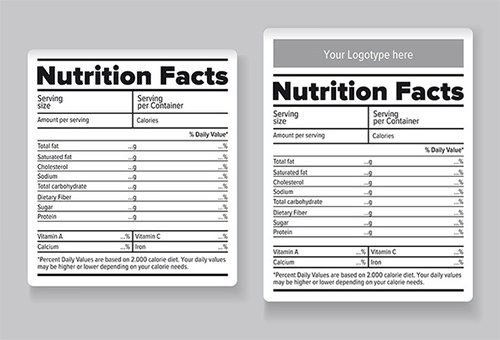 Blank Nutrition Label Template Word Nutrition Label Blank Ftempo Inspiration