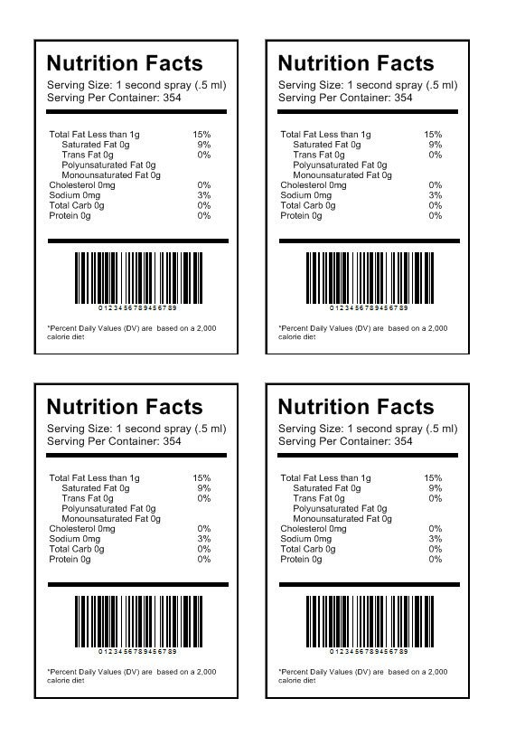 Blank Nutrition Label Template Word Nutrition Label Template Download