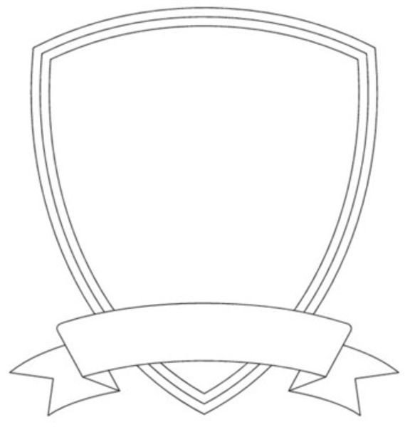 Blank Police Badge Template Badge Outline