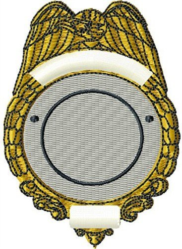 Blank Police Badge Template Blank Police Badge Embroidery Designs Machine Embroidery