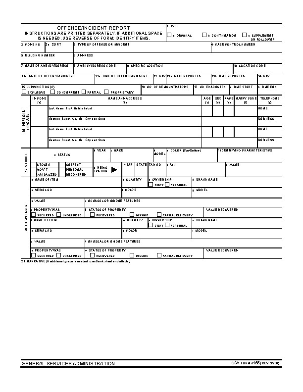 Blank Police Report Template Blank Police Report Template Pdfsimpli