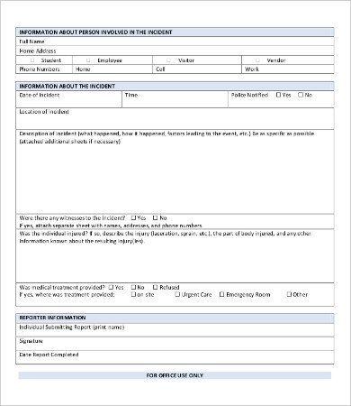 Blank Police Report Template Police Report Template 9 Free Word Pdf Documents