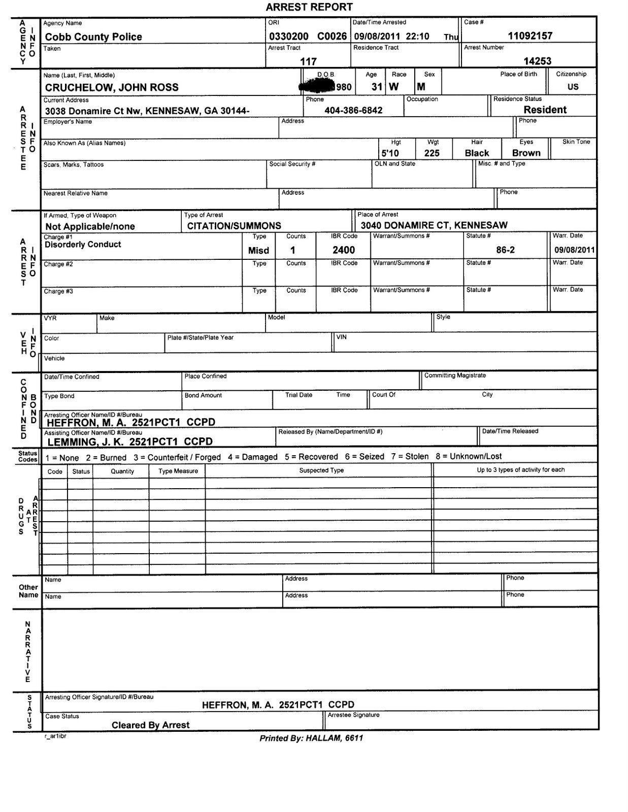 Blank Police Report Template Police Report Template