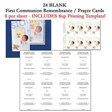 Blank Prayer Card Template 1000 Images About First Munion Remembrance Cards