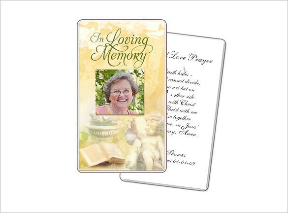 Blank Prayer Card Template 16 Obituary Card Templates Free Printable Word Excel