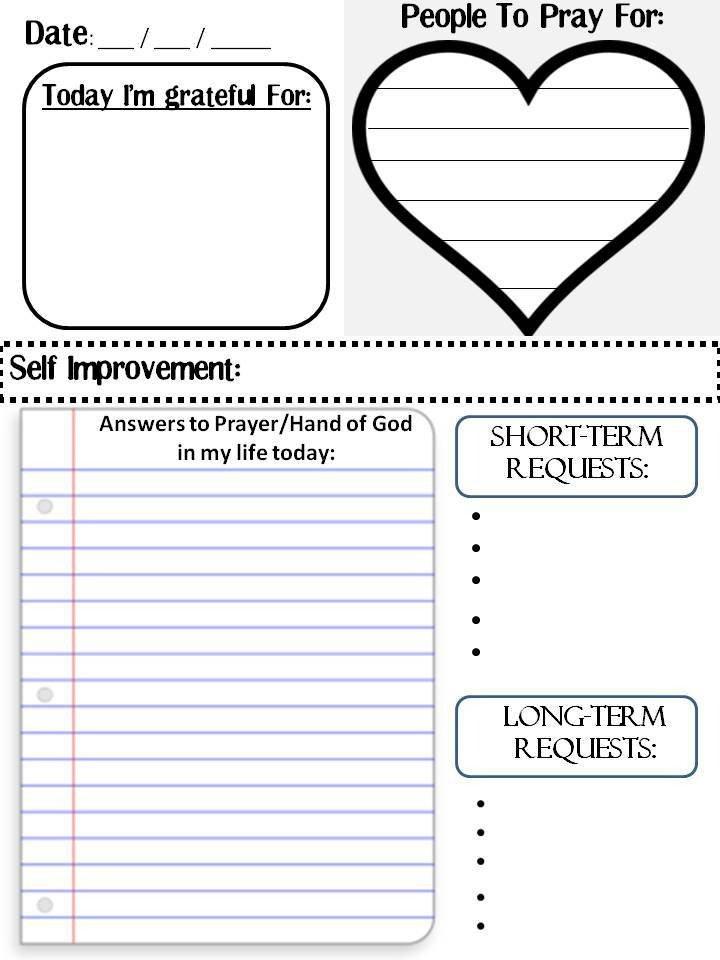 Blank Prayer Card Template Free Prayer Journal Printable
