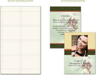 Blank Prayer Card Template Personalized Prayer Cards and Funeral Stationery
