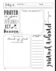 Blank Prayer Card Template Printable Prayer Journal Template