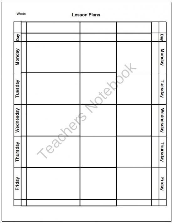 Blank Preschool Lesson Plan Template Blank Lesson Plan Template From Imagination Station On