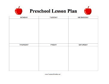 Blank Preschool Lesson Plan Template Preschool Lesson Plan