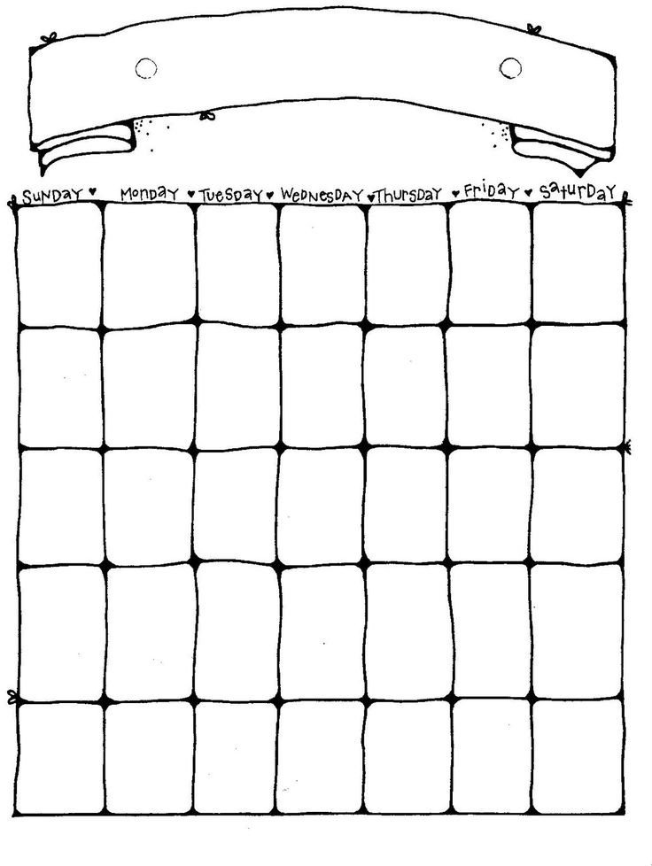 Blank Printable Calendar Template 25 Best Ideas About Blank Calendar On Pinterest