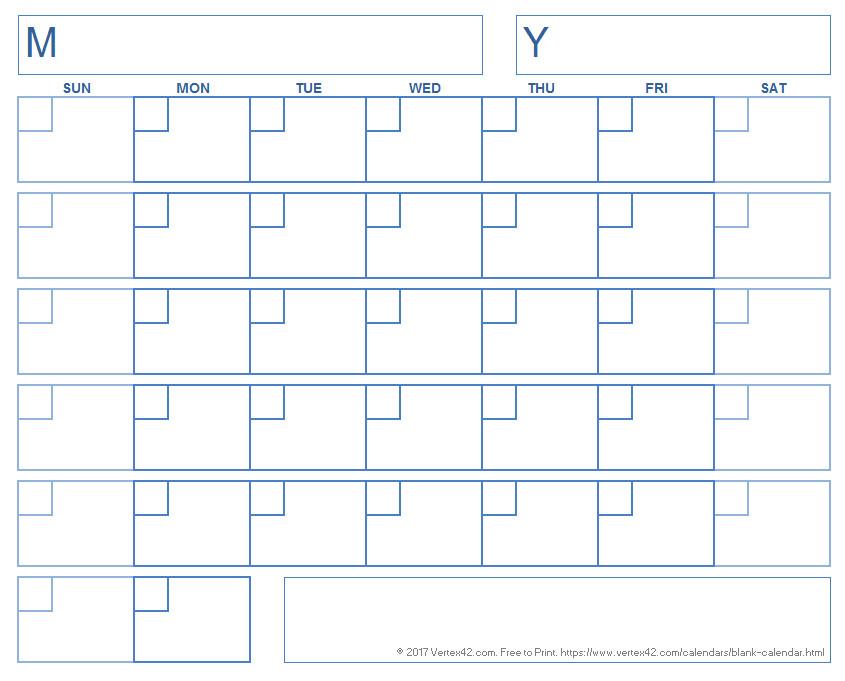 Blank Printable Calendar Template Blank Calendar Template Free Printable Blank Calendars