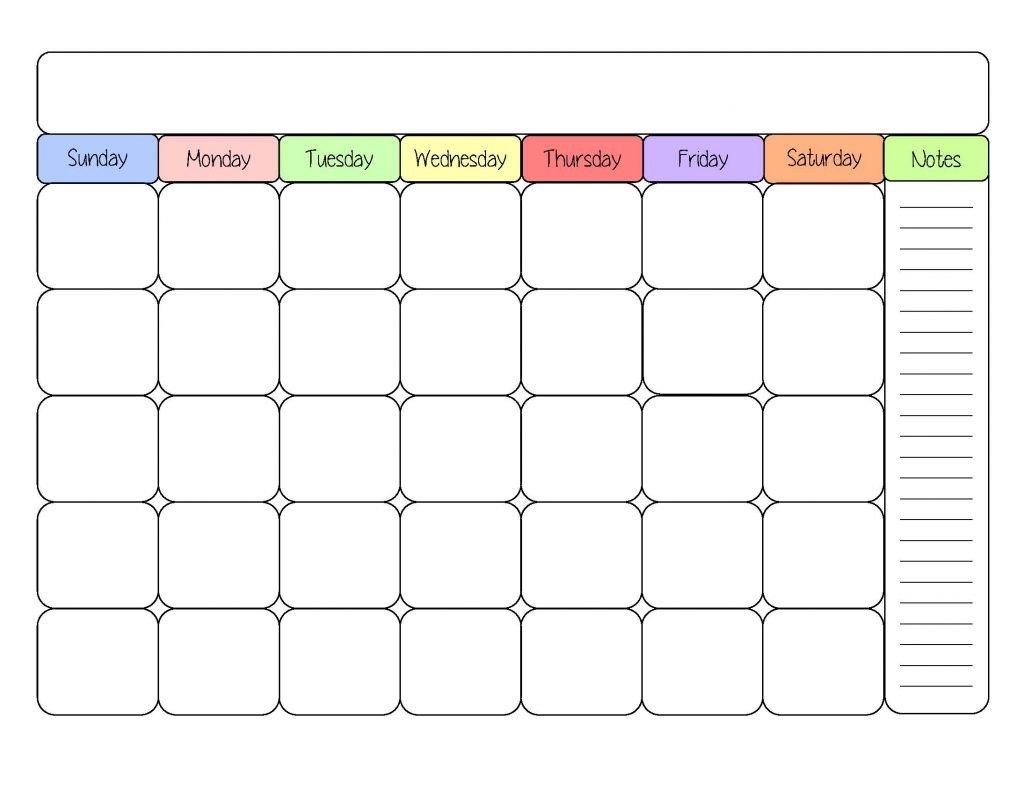 Blank Printable Calendar Template Blank Monthly Calendar Template