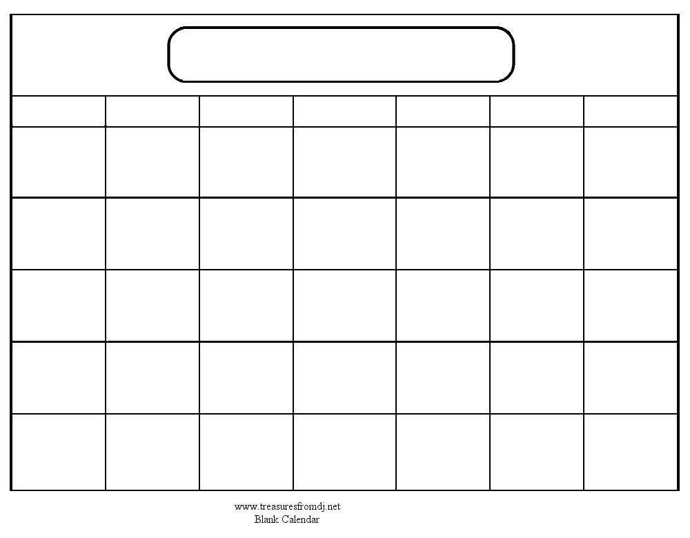 Blank Printable Calendar Template Kids Can Make their Own Calendar Printable Blank Calendar