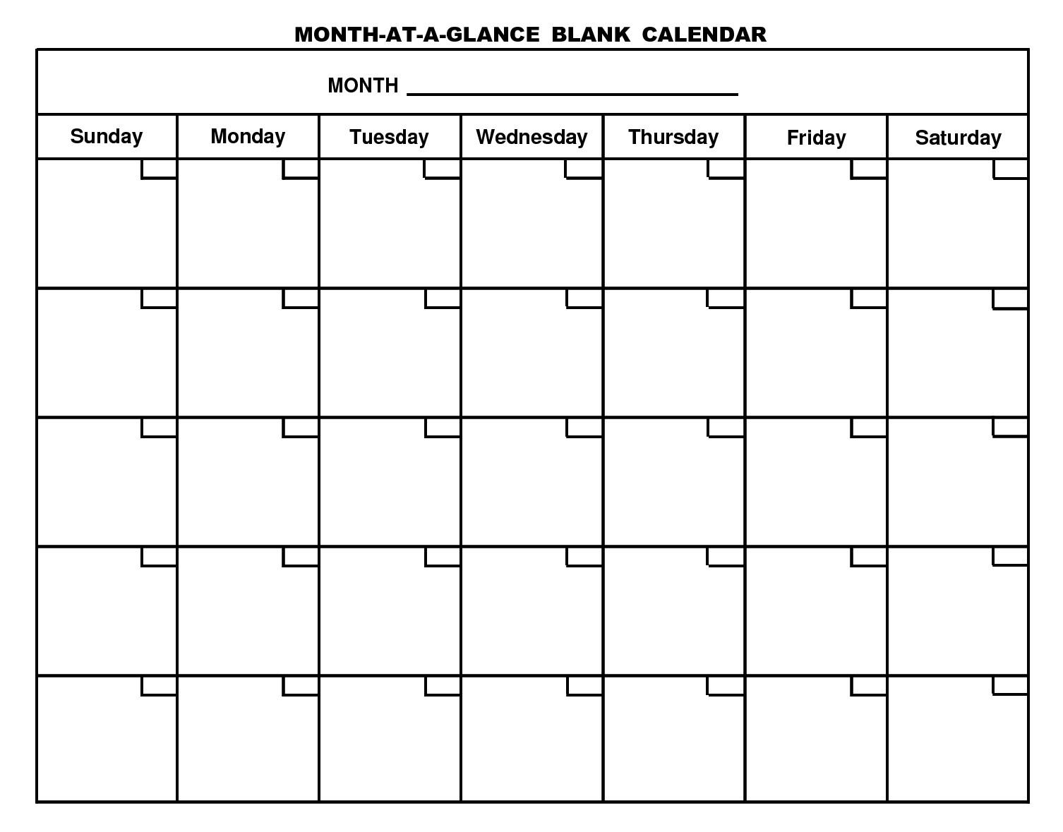 Blank Printable Calendar Template Printable Blank Calendar Template … organizing