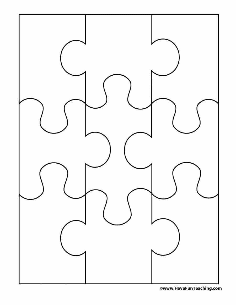 Blank Puzzle Pieces Template 19 Printable Puzzle Piece Templates Template Lab