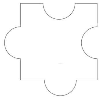 Blank Puzzle Pieces Template Best 25 Puzzle Piece Template Ideas On Pinterest