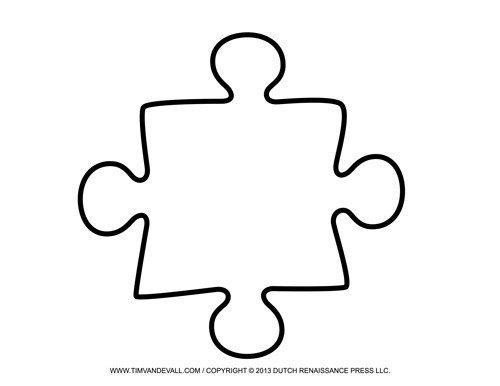 Blank Puzzle Pieces Template Blank Puzzle Piece Template Free Single Puzzle Piece