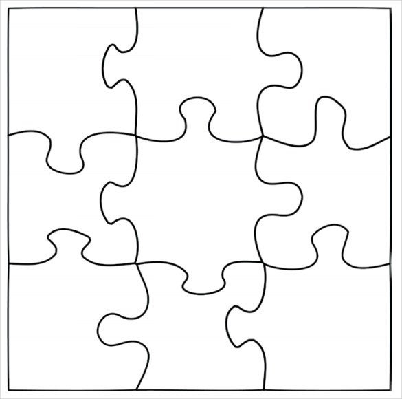 Blank Puzzle Pieces Template Blank Puzzle Template Driverlayer Search Engine