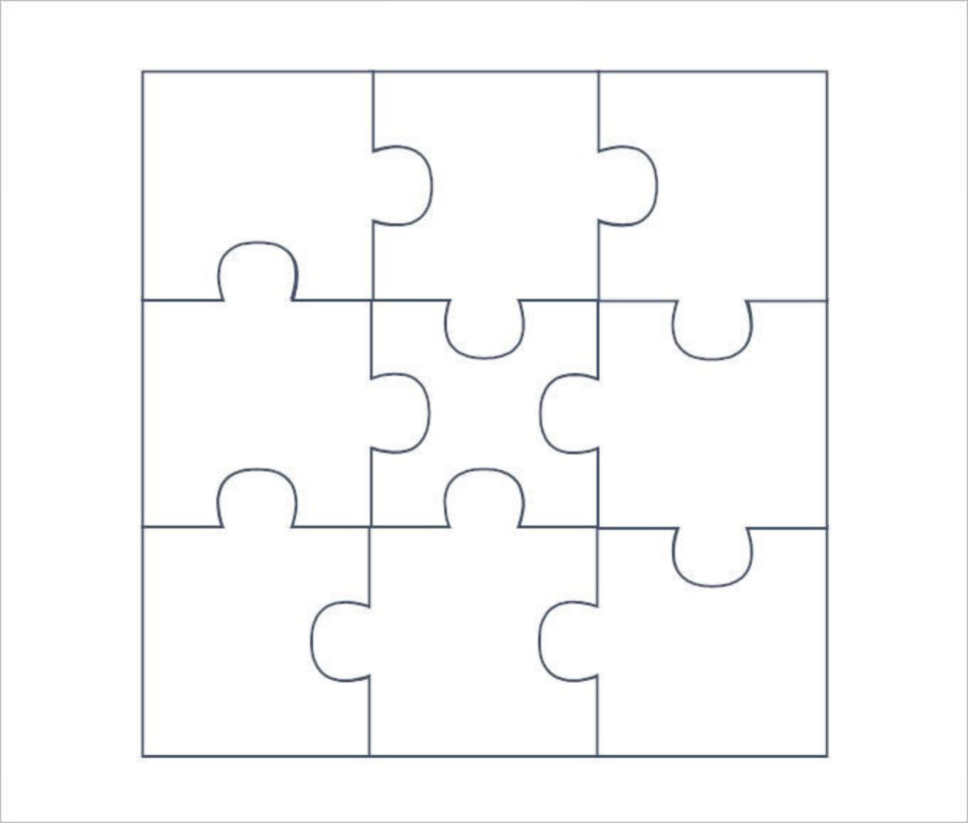 Blank Puzzle Pieces Template Download Blank Puzzle Pieces Template for Free Tidytemplates