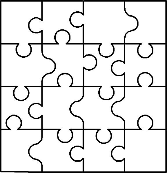 Blank Puzzle Pieces Template Halloween Coloring Pages Puzzles and Jokes for Kids