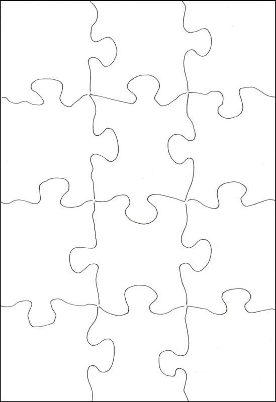 "Blank Puzzle Pieces Template Poz A Puzzle Rectangle 5 1 2"" X 8"" 12 Pieces 10"