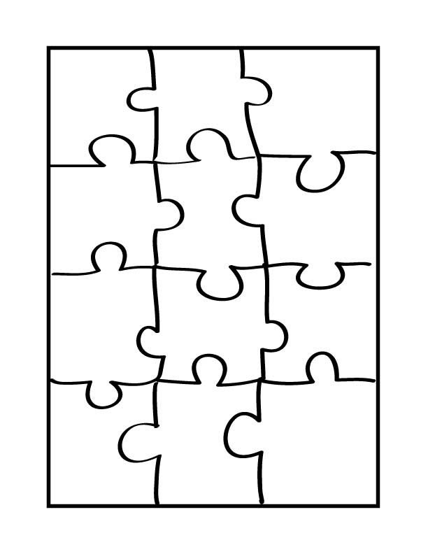 Blank Puzzle Pieces Template Printable Blank Puzzle Pieces Clipart Best