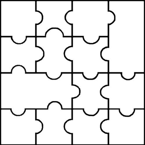 Blank Puzzle Pieces Template Printable Puzzle Pieces Template Dakotaflower Home