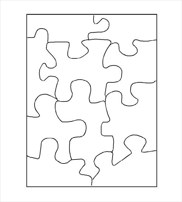 Blank Puzzle Pieces Template Puzzle Template Blank Puzzle Template