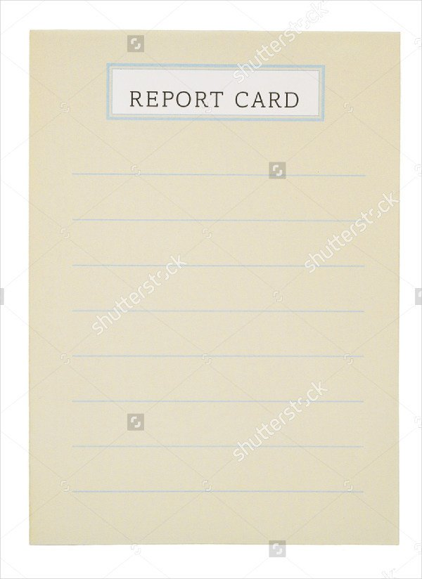 Blank Report Card Template 59 Example Of Cards Free Sample Example format