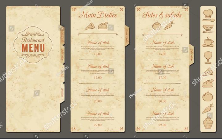 Blank Restaurant Menu Template 30 Blank Menu Templates Ai Psd Docs Pages