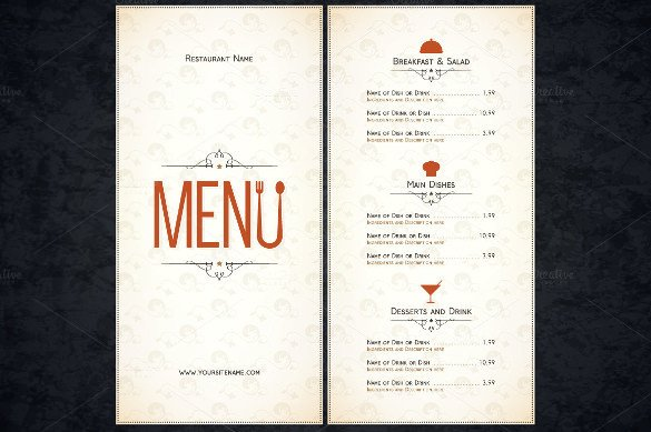 Blank Restaurant Menu Template 51 Restaurant Menu Templates Design Psd Docs Pages
