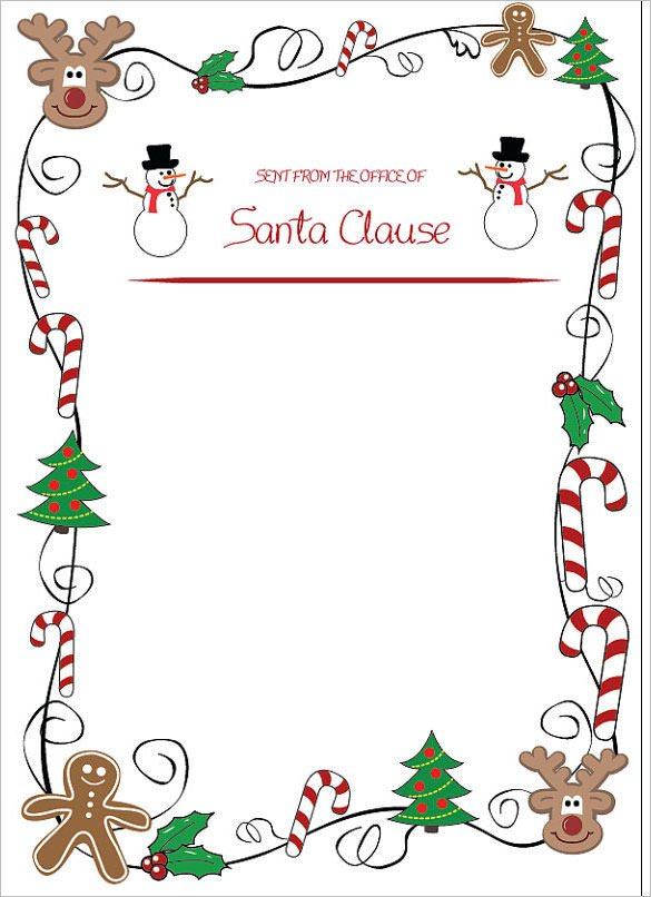 Blank Santa Letter Template 13 Christmas Letter Templates Word Apple Pages Google