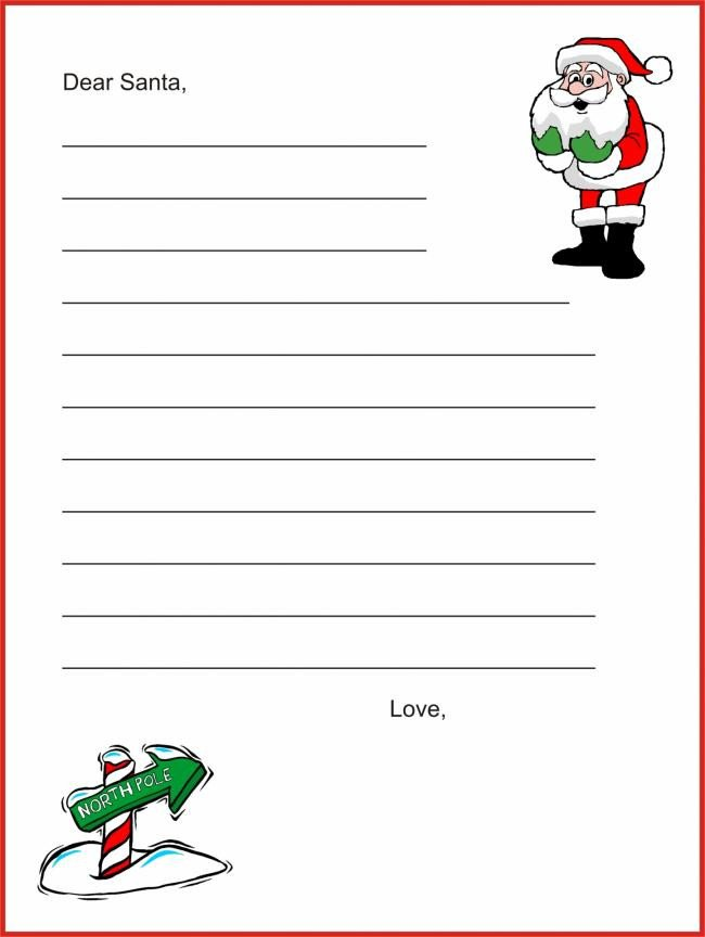 Blank Santa Letter Template 20 Free Printable Letters to Santa Templates Spaceships