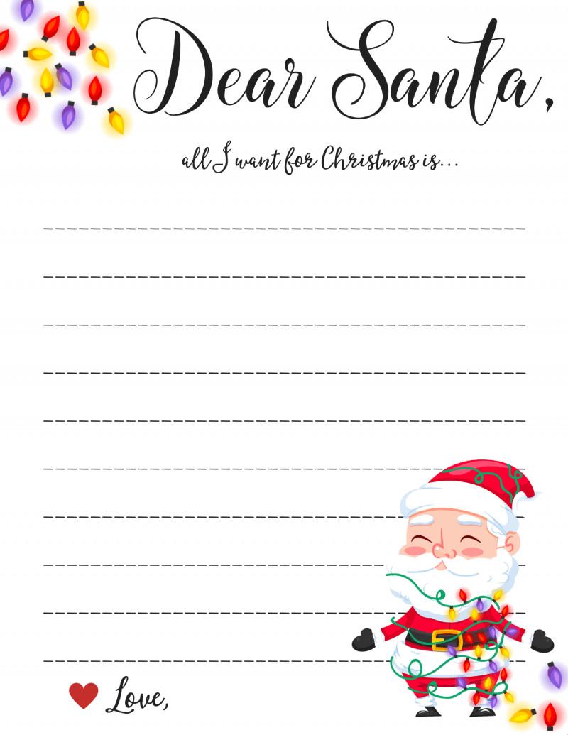 Blank Santa Letter Template Dear Santa Letter Free Printable Downloads