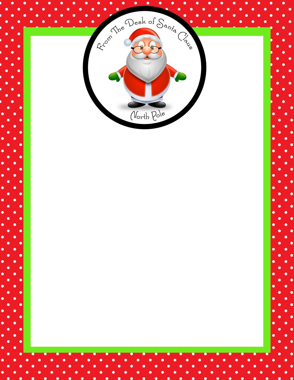 Blank Santa Letter Template December 2012 Simply Sprout