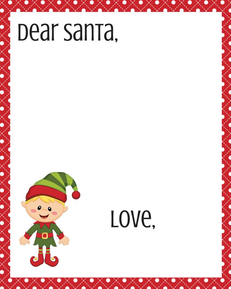 Blank Santa Letter Template Free Dear Santa Printable Set