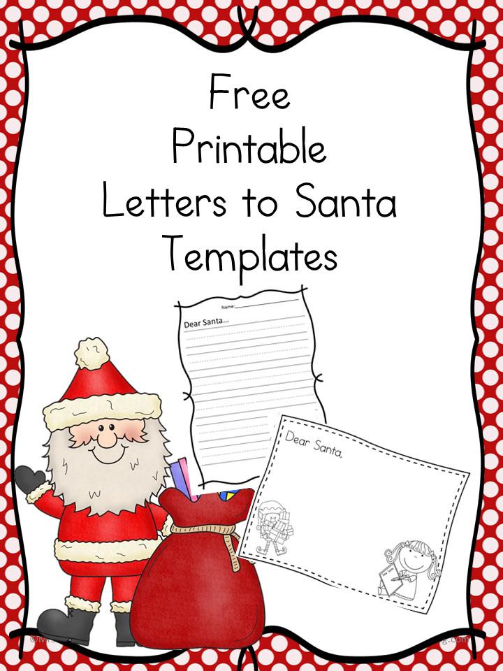 Blank Santa Letter Template Free Santa Letter Templates