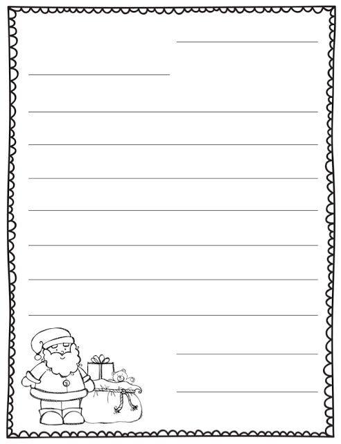 Blank Santa Letter Template Letter to Santa Blank Template