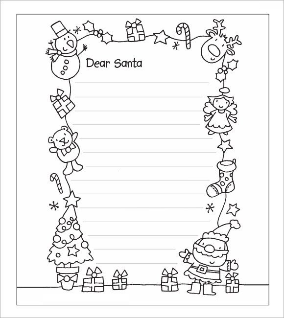 Blank Santa Letter Template Santa Letter Template 7 Download Free Documents In Pdf