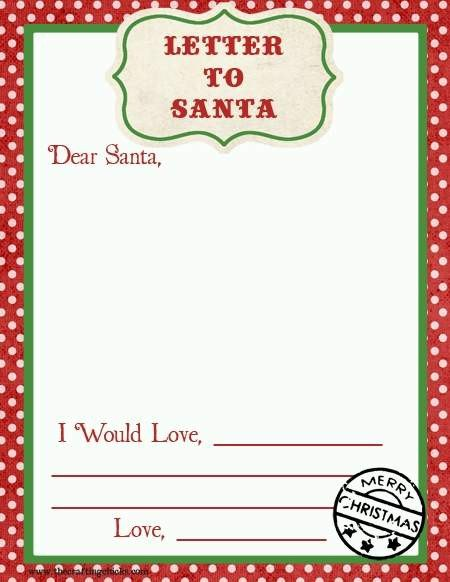 Blank Santa Letter Template top 15 Best Blank Letters to Santa Free Printable