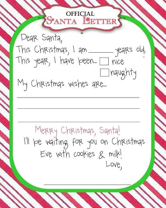 Blank Santa Letter Template top 15 Best Blank Letters to Santa Free Printable Templates