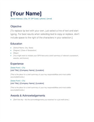 Blank Simple Resume Template Simple Resume