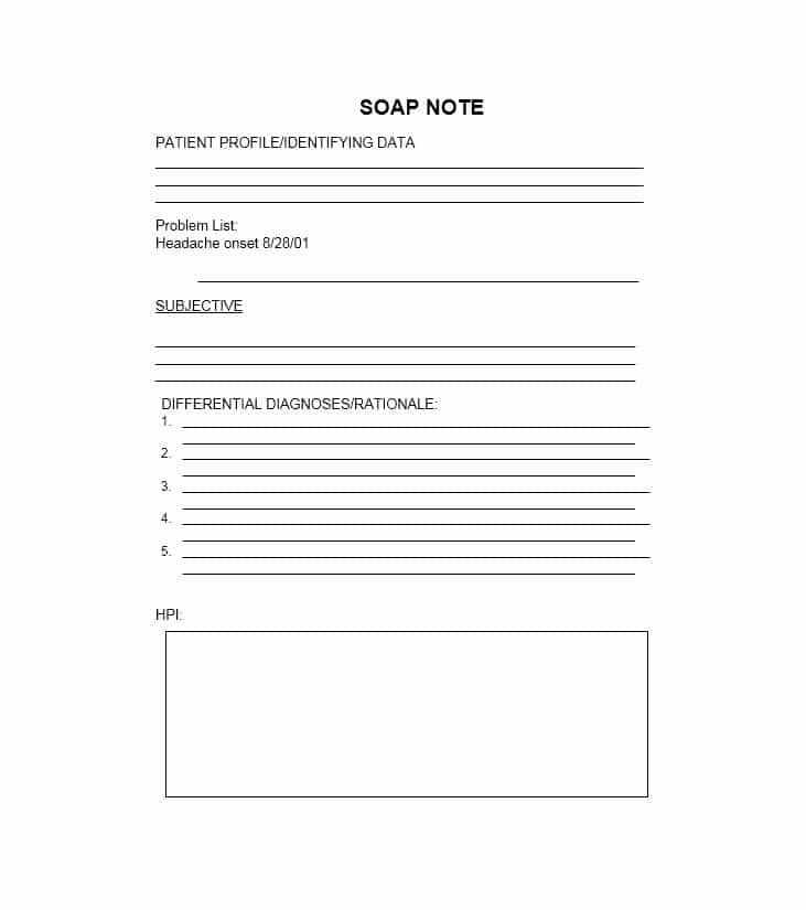 Blank soap Note Template 40 Fantastic soap Note Examples & Templates Template Lab