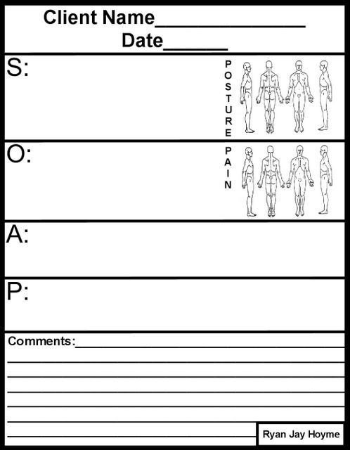 Blank soap Note Template soap Note Massage therapy Blank Google Search