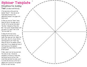 Blank Spinner Template Blank Spinner Template & Arrows by Ann Skelton