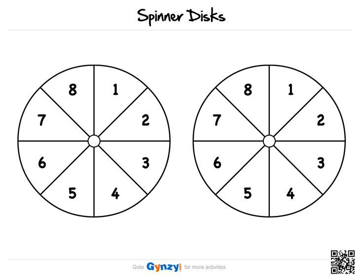 Blank Spinner Template Math with Fid Spinners Printable Worksheet to Practice